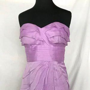 Adrianna Papell Evening Lavender Strapless Dress